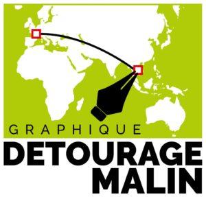 Logo Graphique Detourage Malin
